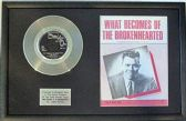 "Jimmy Ruffin - 7 "" Platinum Disc & Song Sheet - What Becomes Of The Broken Hearted"